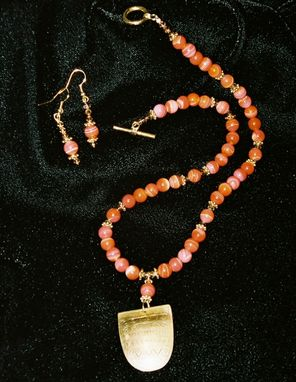 Custom Made Beaded Necklace With Indian Amulet