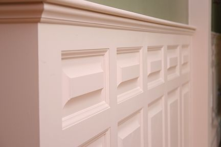 Custom Made Living/Dining/Family Room/Stairs Custom Wainscoting – Madison Style