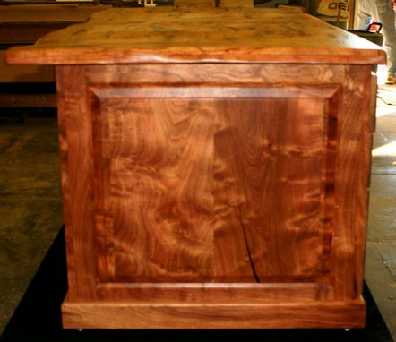 Custom Made Texas Burl Turqoise Executive Desk