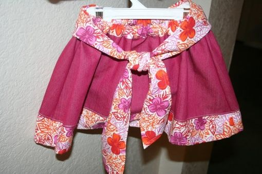 Custom Made Pink Floral Girl's Skirt, Size 2t-3t - One Of A Kind