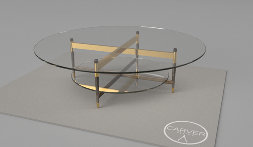 Custom Made Linnaeus Glass Coffee Table 60""