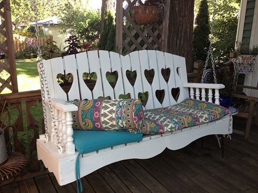 Custom Made Antiqued Porch Swing