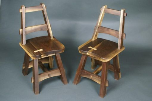 Custom Made Modified Craftsman Inspired Walnut Kitchen Chairs