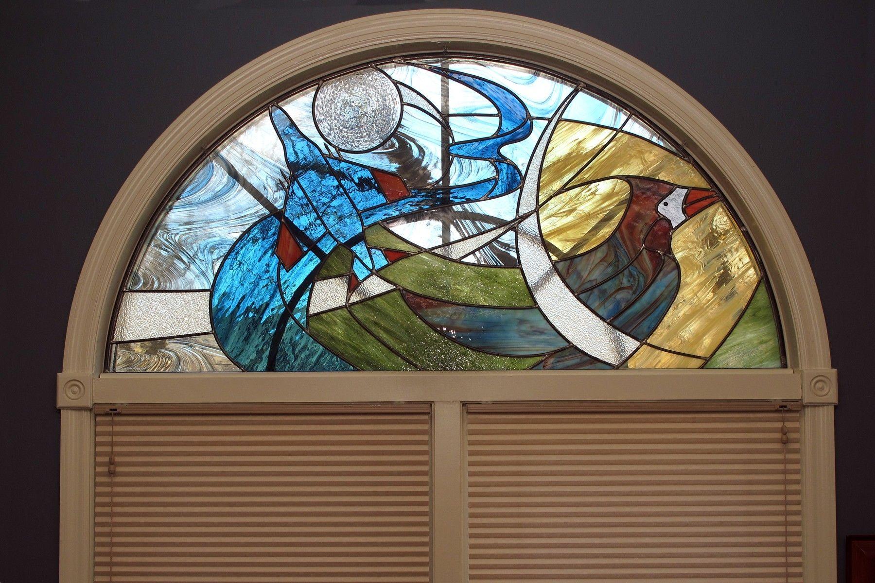 Valerie Spellman Batt Painted Light Stained Glass Omaha Ne