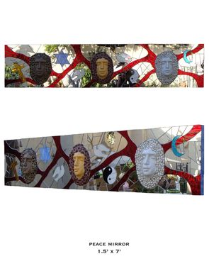 Custom Made Glass Mosaic Reliefs