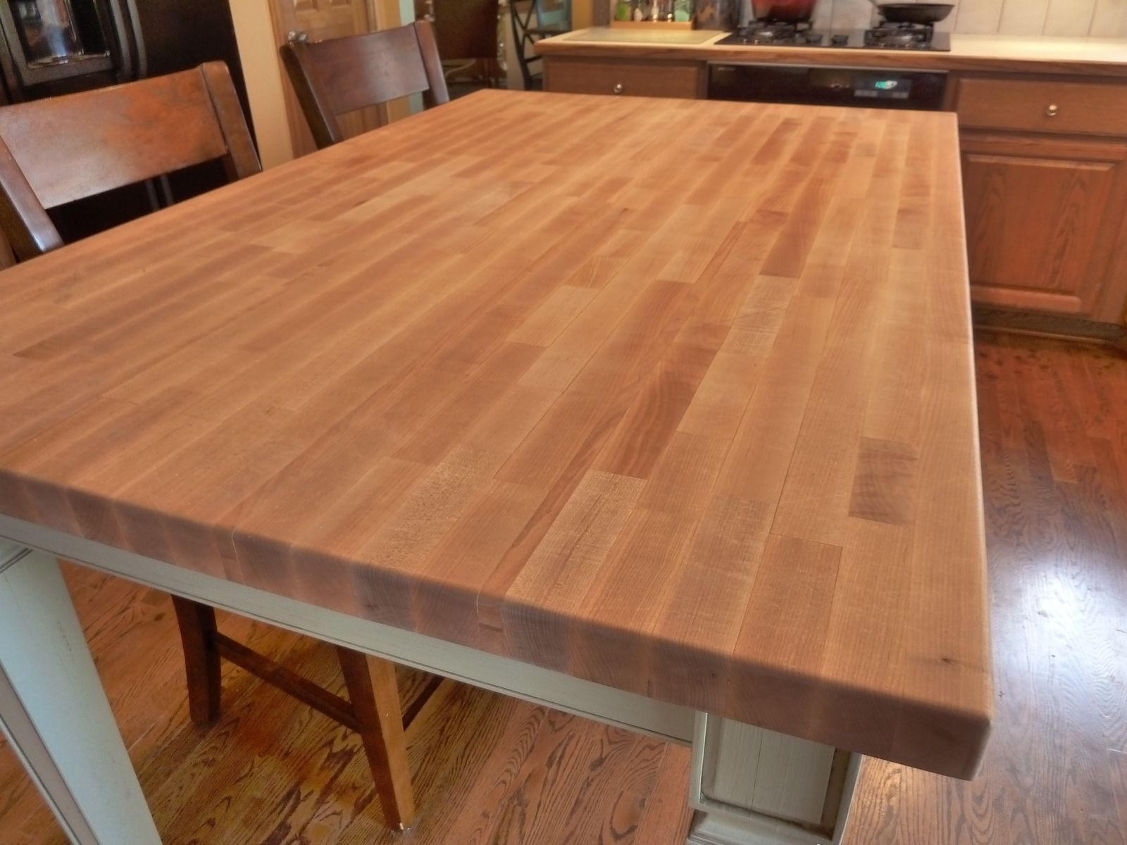 Butcher Block Kitchen Tables Hand Made Butcher Block Kitchen Table By Parker Custom Woodworks