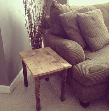 Custom Made Reclaimed Barn Wood Coffee Table | Oak End Table | Side Table