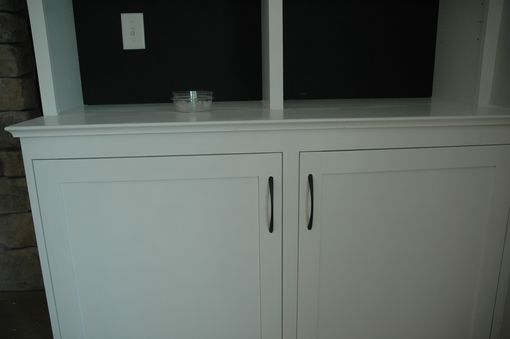 Custom Made Base Cabinets And Book Cases