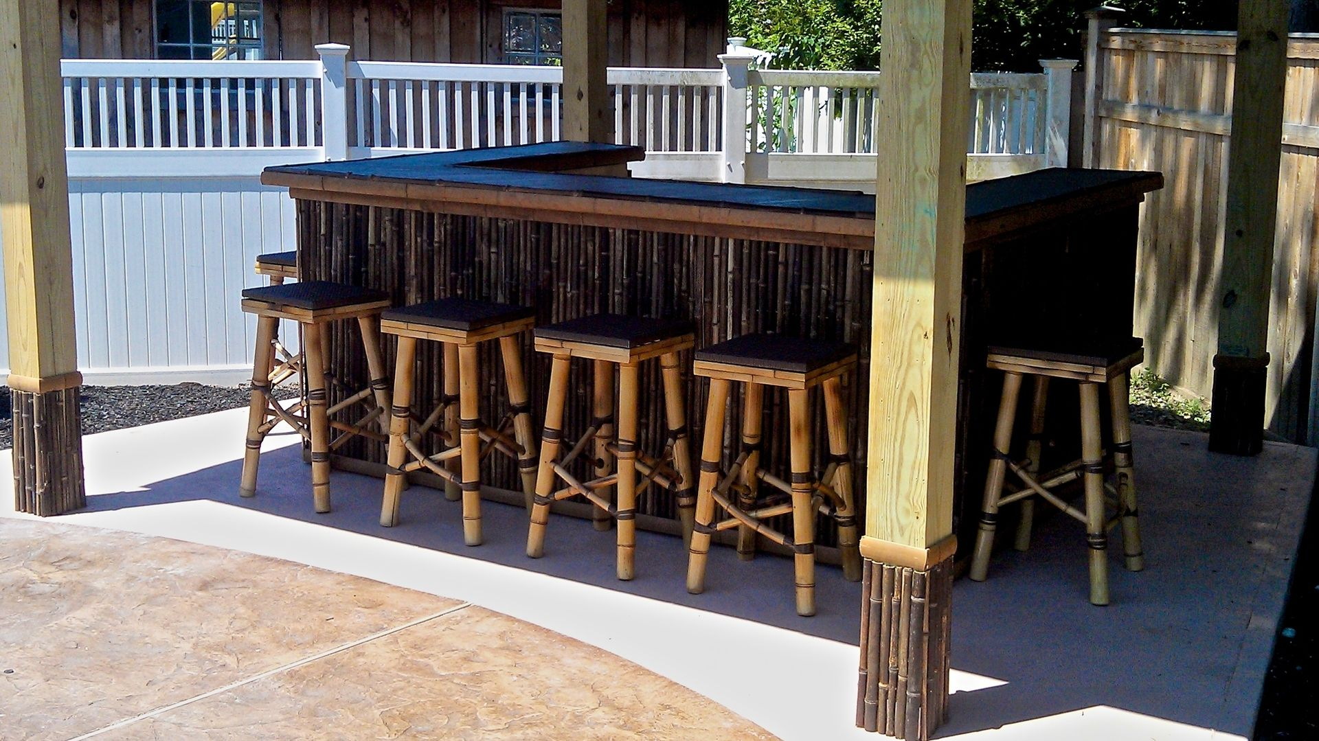 Custom Tiki Bar By Riftsawn Carpentry Custommade Com