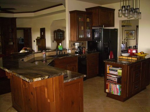 Custom Made Knotty Alder Project Kitchen And Other Cabinetry