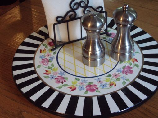 Custom Made Hand Painted Lazy Susan - 16 Inch