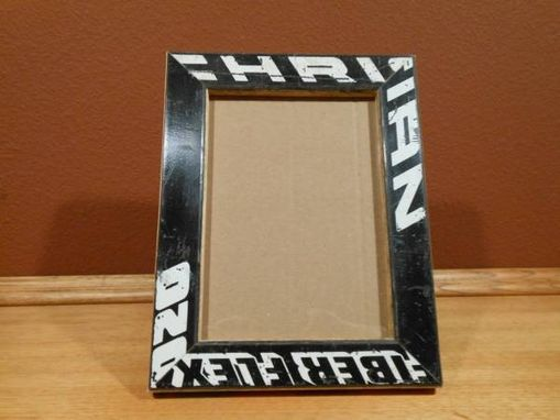 Custom Made Hockey Stick Picture Frame