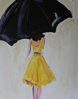 Custom Made Umbrella Girl In Yellow Dress