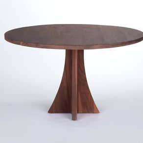 Solid Walnut Round Dining Table by Peter Gadjev 1296d232a