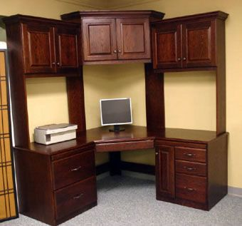Custom Made Corner Desk With Hutch