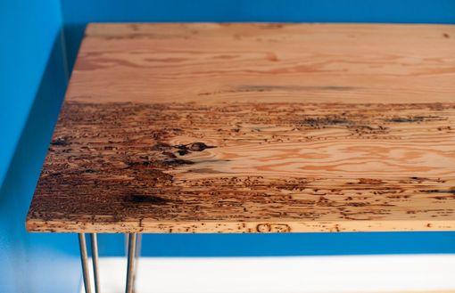Custom Made Modern Desk Made From Reclaimed Fir