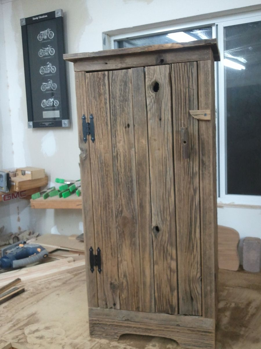 Handmade aged barnwood jelly storage cabinet by - Custom made cabinet ...