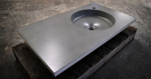 Custom Made Orb Concrete Vanity Sink