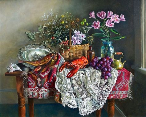 Custom Made Painting: Still Life With Smoked Herring By Roy Mandell