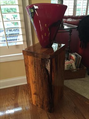 Custom Made Barn Wood Pedestal