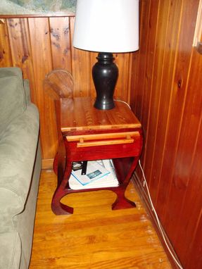 Custom Made Red End Table