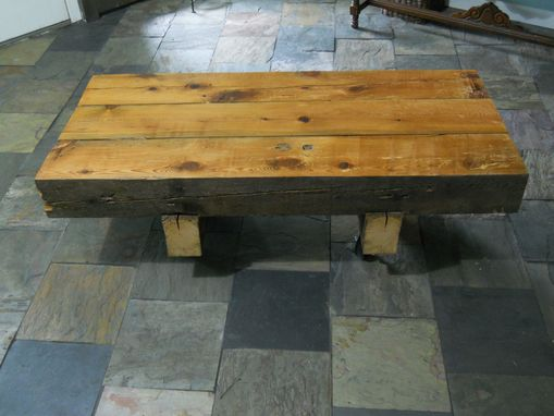 Custom Made Reclaimed Barn Beam Coffee Table