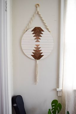 Custom Made Callisto - Round Macrame Wood Wall Art Hanging