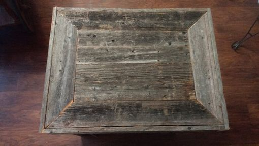 Custom Made Rustic Fence Wood Night Stand End Table