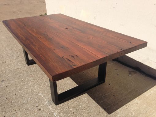 Custom Made Reclaimed Pine Wood Coffee Table