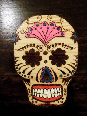 "Custom Made ""5 Amigos"" Sugar Skull Art"