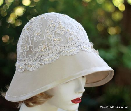 Custom Made Formal Dressy Edwardian Wide Brim Sun Hat Lace And Flowers