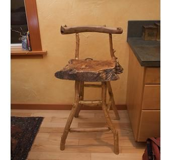 Custom Made One-Of-A-Kind Rustic Barstool