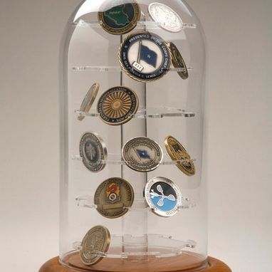 Custom Made Challenge Coins Case, 36 Coins Display