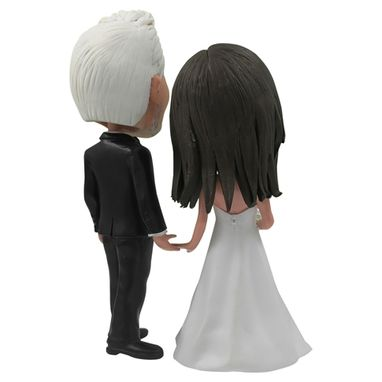 Custom Made Personalized Wedding Cake Topper Of Couple Holding Hands