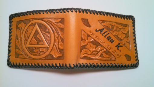 Custom Made Hand Carved And Tooled Leather Billfold