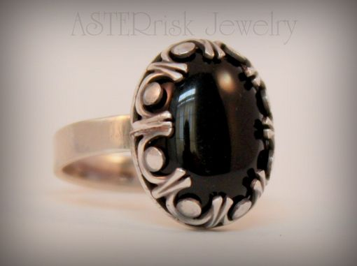 Custom Made Sterling And Onyx Ring