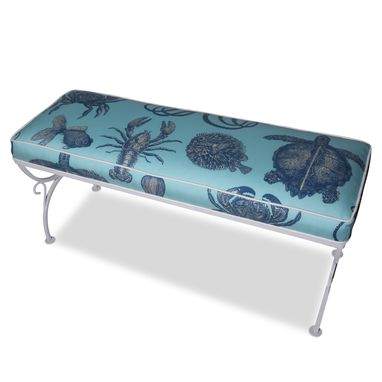 Custom Made Vintage Wrought Iron Sea Creature Bench