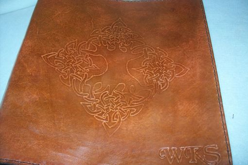 Custom Made Leather Photo Album With Tree Of Life Design