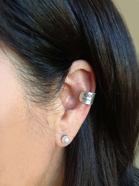 Custom Made Earcuff In Hand Stamped Sterling