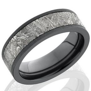 meteorite and zirconium band by serge depoyan - Meteorite Wedding Ring