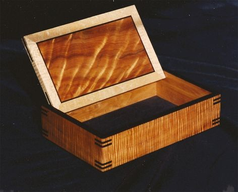 Custom Made Hinged Curly Koa Box
