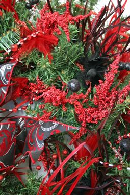 Custom Made Contemporary Christmas Wreath