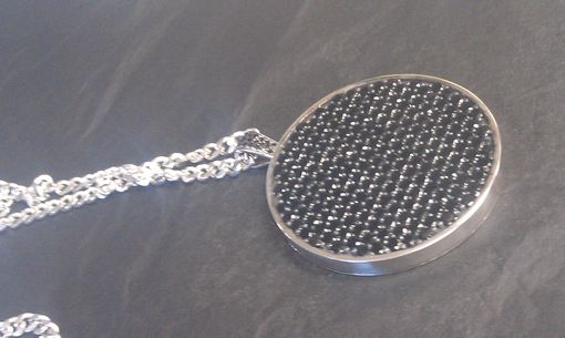 Custom Made Sterling Silver Medallion Filled With Black Diamonds