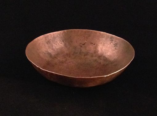Custom Made Handmade Hammered Copper Bowl