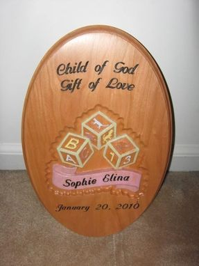 Custom Made Baby Plaque