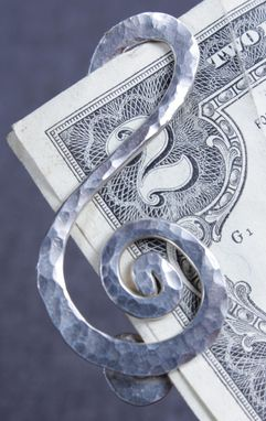 Custom Made Treble Clef Money Clip In Sterling Silver
