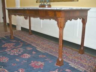 Custom Made Hand Carved Hall Table