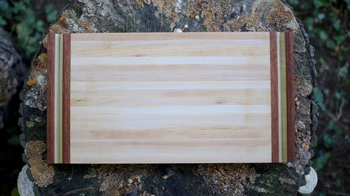 Custom Made Maple, Poplar And Cherry Cutting Board