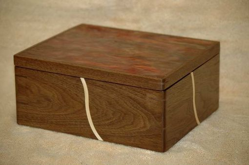 Custom Made Walnut & Glass Keepsake Box