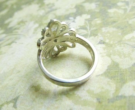 Custom Made Diamond Ring, Nouveau, Vintage, Antique Style